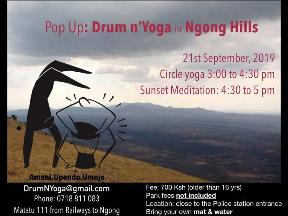 Pop Up: Drum n'Yoga in Ngong Hills
