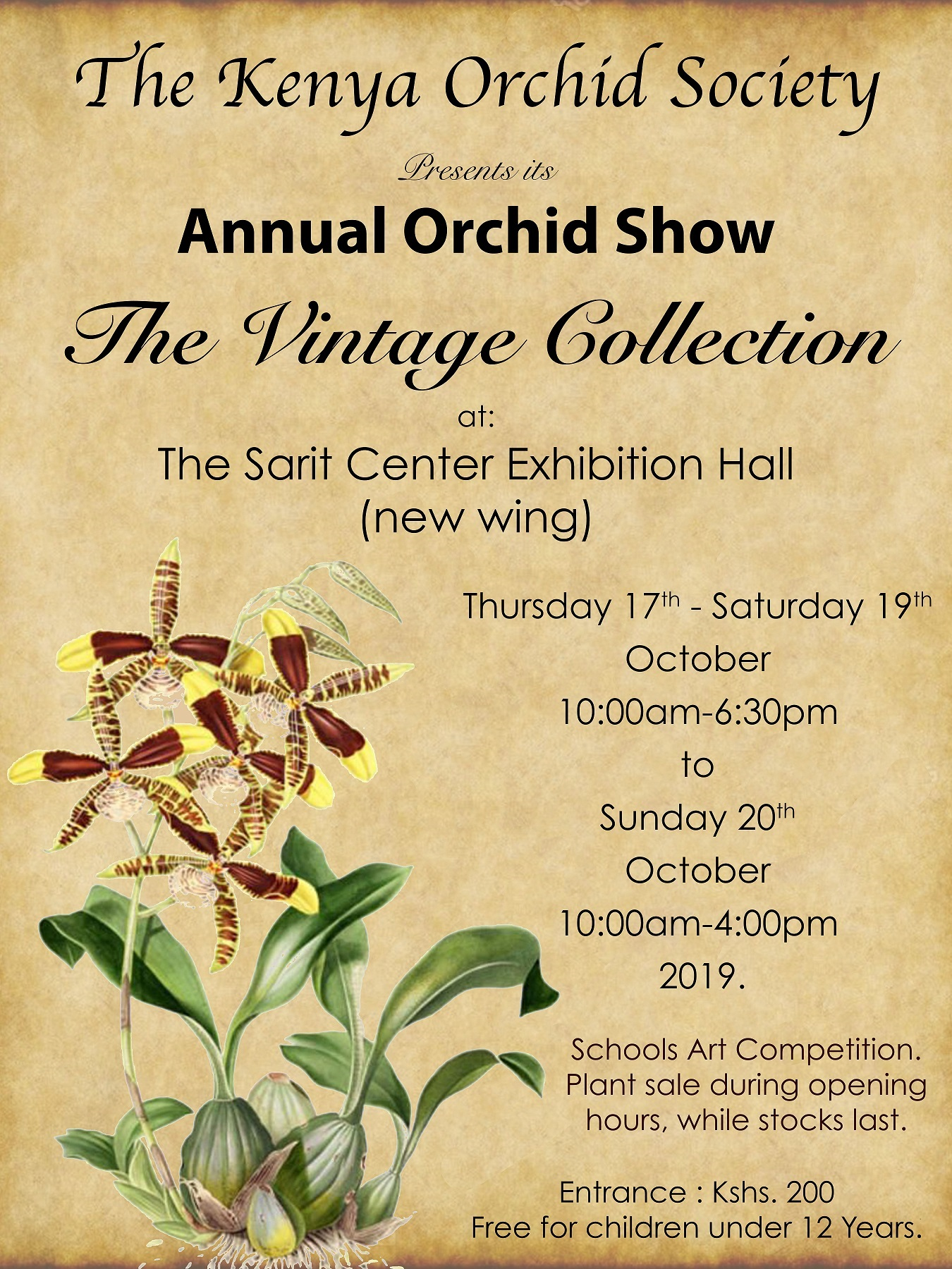 Annual Orchid Show: The Vintage Edition