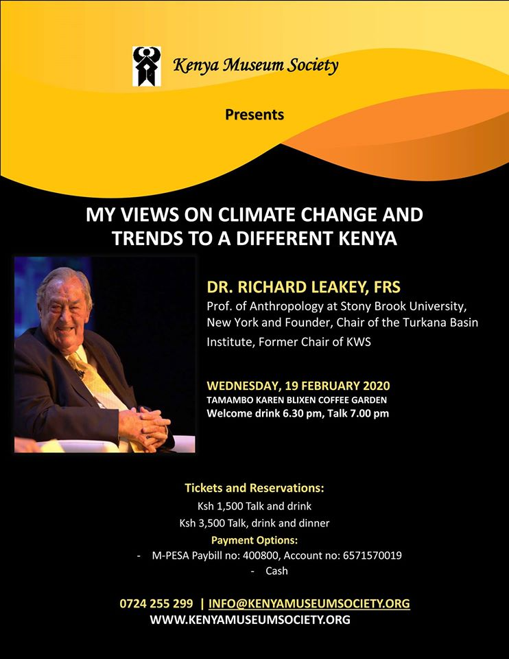 Evening Talk By Dr. Richard Leakey