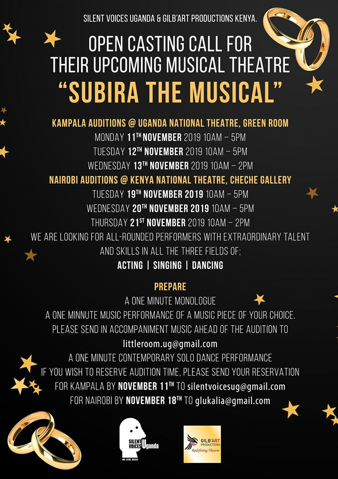 Open Casting Call for Subira the Musical